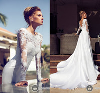 Modest 2014 Nurit Hen Bridal Dress Sexy Cheap Appliques A Li...