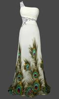 peacock dress - Unique Peacock Rhinestone Maxi Chiffon Wedding Dresses Bridal Gowns