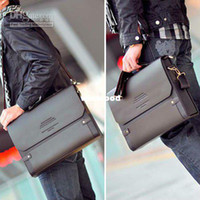 Wholesale 1pcs PJ Polo Men s Shoulder Bags Messenger Briefcase Leather Bag Bookbag BG65