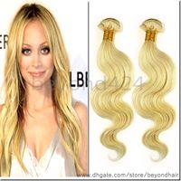 Body Wave Brazilian Hair machine #613 color hair brazilian body wave 4pcs lot wholesale pretty virgin hair