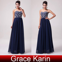 Grace Karin 2014 New Long Prom Dresses Sequins Beading Chiff...