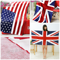100% Cotton cotton fabric uk - Delicate cm cm American UK flag Euro printing beach towel Cotten bath towel hotel towels Fashion towels High quality