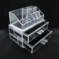 Wholesale Clear Acrylic Cosmetic Jewelry Organizer Makeup Box Case SF