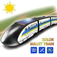 Wholesale S5Q Funny DIY Educational Solar Powered Assembly Mini Toy Train For Kids Gift AAAAUI