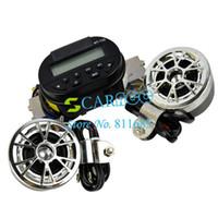 Wholesale car V AUDIO SOUND SYSTEM AUX INPUT Motorcycle ATV FM Radio MP3 STEREO SPEAKER Set Waterproof
