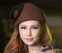 Wholesale Women Wool Felt Hat Woolen Women Church Derby Hats Women Winter Hat Top Hat Wool Fedoras Elegant