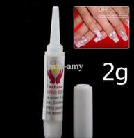 Wholesale 1000Pcs g Pink Nail Glue False Tips Acrylic for Nail Art EMS