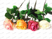 Wholesale LLFA4306 Classic Rose Decoration Artificial Flowers Plastic Rose Coffee Shop Party Wedding Art Gift