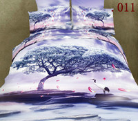 Cheap Wholesale Bedsheet set Comfortable 100% Cotton Bedding Sets Queen Size Bedcover Bed sheets Bedclothes Duvet Quilt Cover Pillow Case Bedsheet