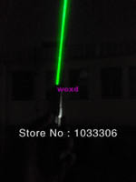 Wholesale high power focusable GREEN laser pointer mw w nm burn match dry wood paper black plastic cigarettes