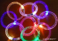 Wholesale AAA quality Colorful flash bracelet Acrylic flash LED Bangle LED luminous bracelet stunning colorful toy
