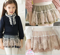 Wholesale New product Spring Autumn Kids Fashion noble lace Princess Skirt Korean Children Short Skirt Baby Girls Skirts TS206
