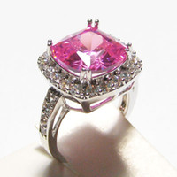 Wholesale pink crystal jewelry ring wedding ring stamped RS815L