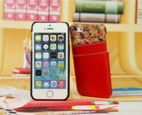classical flower pu leather case for iphone 5 5S