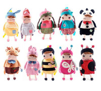 Unisex baby backbag - Retail Metoo Rabbit dolls Baby girl boy backpacks Angela Backpack Child School Bag Children backbag Angela plush toys