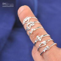 Wholesale mixed styles silver Ring Fashion Jewelry sterling silver Rings