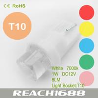 Wholesale T10 straw hat lamp Concave LED light DC V LM Car headlights White dome lamp Car parking light AL0080W