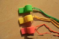 Wholesale New Plastic Whistle For Fan Refree Games Many Colors Cheerleading Item