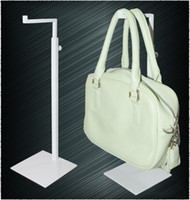 Wholesale YEON metal white powder coated adjustable height bag stand display rack holder for sale optional color