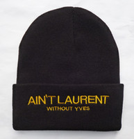 Wholesale Ain t laurent without beanies winter knitted hats colors by EMS DHL to USA Canada Australia mix order album offered