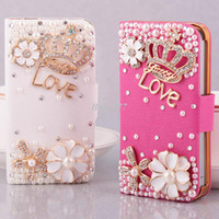 Wholesale handmade turned around Crown case for iPhone4s case phone shell mobile phone sets Rhinestone Case for iphone4 female