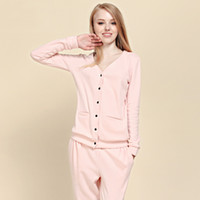 Wholesale New Fashion Warm Sexy Sleepwear Cotton Cute Cardigan Winter Spring Pijama Clothing Set Plus Size Pajamas For Women Man