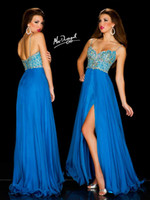 Cheap Outstanding Teen Sweetheart Mac Duggal pageant dress 42832P prom Dresses Spaghetti Chiffon beads Evening dress Gown 2014 Side Slit Backless