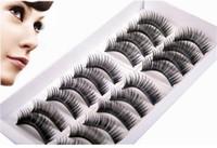 Wholesale 2 lot pairs High Quality Thick Long False Eyelashes Extension Three Trees Handmade Makeup Lashes
