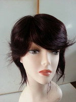 Wholesale hot sale brazilian peruvian virgin hair hand made wigs cap natural color good quality DHL UPS