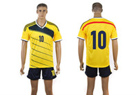 Wholesale 2014 Brazil World Cup Colombia Home Jersey Yellow JAMES Soccer Jersey Top Sellers New Arrival Football Jerseys with Shorts Best Jerseys