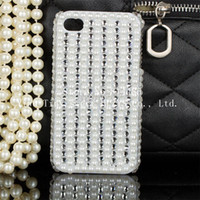 Wholesale Fashion Luxury Bling Design pearls style D Case For Iphone4 s iphone5 cell phone mobile phone case