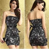 Wholesale 2014 New Pattern Casual Dresses Wrap Chest Lovely Polyester Fabric Dress Brocade Printing Free Size