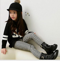 Wholesale Hot Sale New Autumn Winter Children s Leggings amp Tights baby Girls Houndstooth thick velvet leggings girls Boots pants baby girl pants