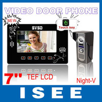 Wholesale Fasion The latest luxury quot touch key wired color video door phone video doorbell system