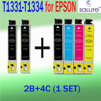 Wholesale 6pcs set for Epson ink cartridges T1331 T1334 for EPSON STYLUS NX420 T22 T25 TX120 TX420W WORKFORCE