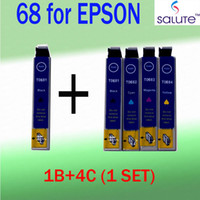 Wholesale 5pcs set for Epson ink cartridges T0681 T0684 for EPSON STYLUS C120 CX5000 CX7000F CX7400 CX7450 WorkForce