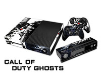 Wholesale Protective Vinyl Decal Skin Stickers Wrap For xbox one Console Controllers Kinect Skin Call of Duty Ghosts