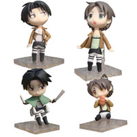 Wholesale Attack on Titan Eren Rivaille Cute Mini PVC Action Figures Toys Dolls set