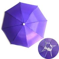 Wholesale S5Q Colors Foldable Golf Fishing Hunting Camping Sun Brolly Umbrella Hat Cap New AAAAZP