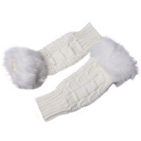 Wholesale Topnotch Half fingers Gloves Sleevelet Girls Lady s Knitting Cotton Cony Oversleeve DSK7