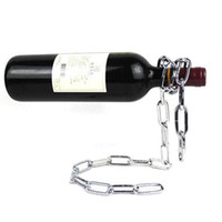 Wholesale S5Q New Magic Chain Champagne Red Wine Liquor Bottle Holder Rack Stand Cool Gift AAABDK