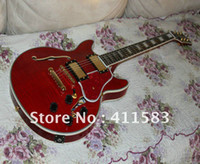 Wholesale HOT SALE Semi Hollow Electric Guitar red electric guitar in stock