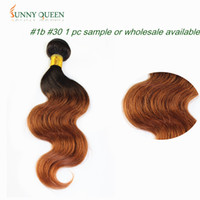 Wholesale POP Sunny queen hair products body wave Brazilian Virgin Ombre Hair extensions sample Two Tone b