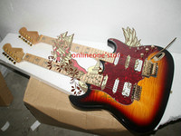 Cheap Custom shop Double neck guitars 6 strings 12 strings Electric Guitar in Vintage Free Shipping