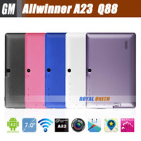 7 inch Dual Core Android 4.2 7 inch Tablet PC Allwinner A23 Dual Core Android 4.2 Q88 Bluetooth Dual-CAM Multi-Color 1.5GHz 512MB 4GB A13 Pro