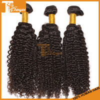 Curly Brazilian Hair machine Cheap Virgin Brazilian Curly Hair Weave 3pcs Lot Remy Human Hair Extensions Kinky Curly Virgin Hair Weft Can Dye Bleach DHL Free Shipping