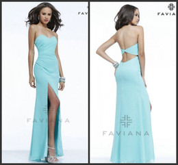 Wholesale 2014 Simple Aqua High Low Sweetheart Simple Prom Dresses Evening Pageant Gowns Dresses Bridesmaid Dresses Backless Floor Length Formal Gowns