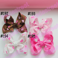 Cotton basic hair bows - ps mix color fashion Boutique basic hair bows toddle baby hair bows hair accessories