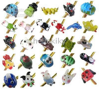 Wholesale 100 MIXED COLOURS LOOSE GLASS ANIMAL BEADS fit charm bracelet