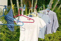 Wholesale Retail Set Household Laundry Product Thickening Windproof Length M Blue Nylon Clothesline Clips Hanger Racks